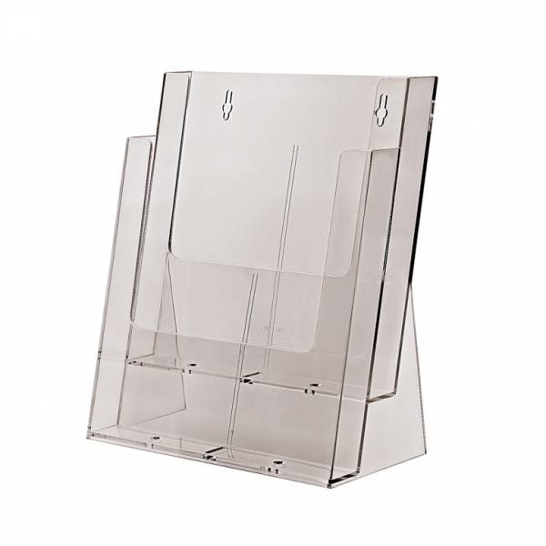 Taymar® Brochure Holder Counter/Wall 2x A4 Portrait