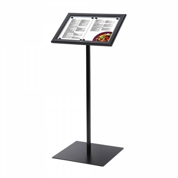 Black Lockable Menu Stand Non-Illuminated 2x A4