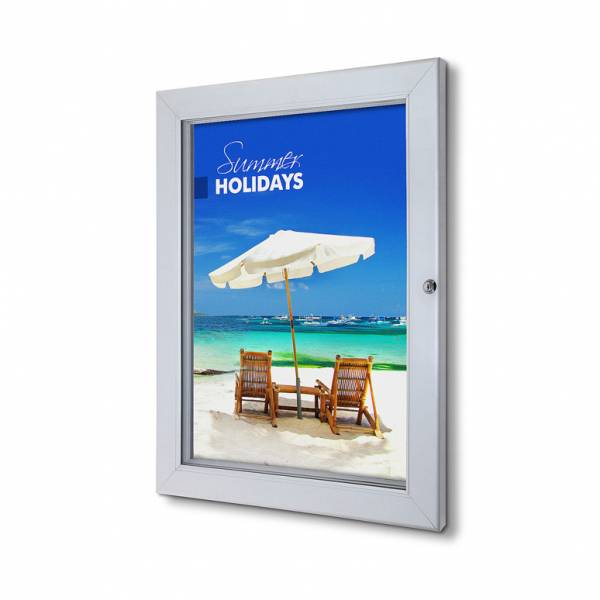 Lockable Poster Case With Metal Backwall And Writable Surface A2