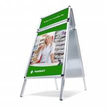 A-Board With Top Card 32 mm Round Corners A1