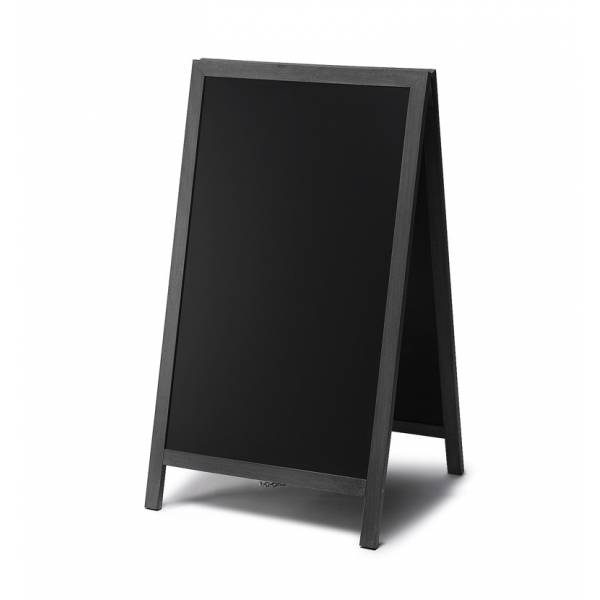 Chalkboard A Frame Pavement Sign JD Natura range BLACK