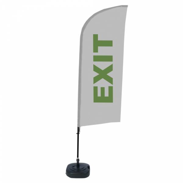 Beach Flag Alu Wind Complete Set Exit