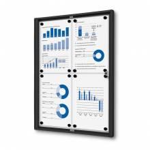 Indoor Lockable Noticeboard Economy XS