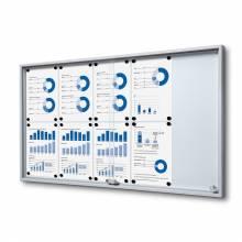 Indoor Lockable Noticeboard with Sliding Doors SLIM