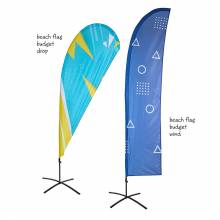 Beach Flag Budget Wind and Drop